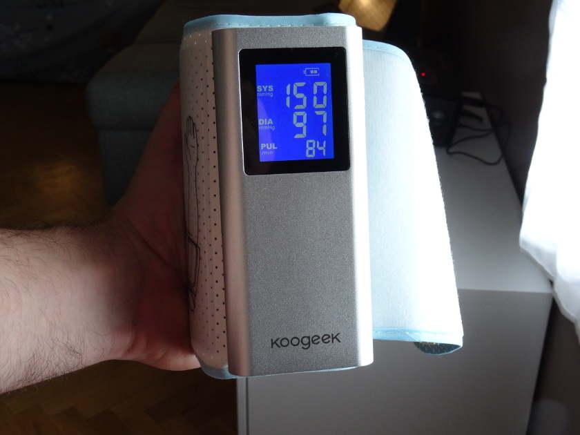 Tensiomètre Koogeek BP2 - écran