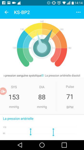 Tensiomètre Koogeek BP2 - application health
