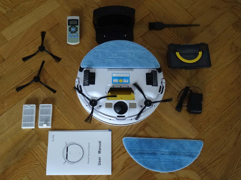 iLife v5 - aspirateur robot et accessoires
