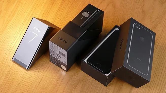 Meizu-PRO-7-et-iPhone-7-boite
