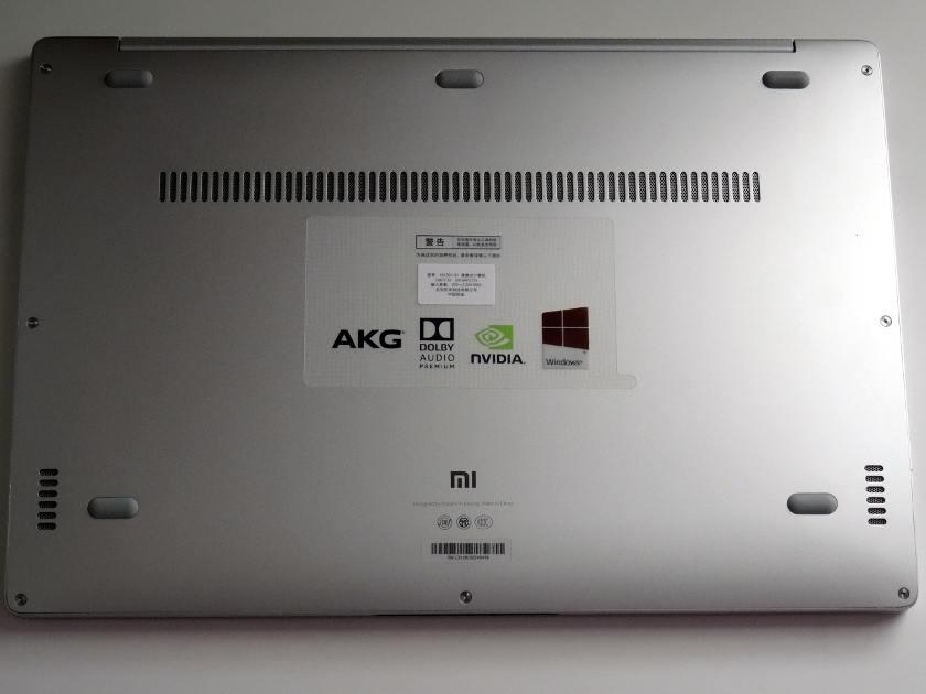 Xiaomi Air 13 dessous aération