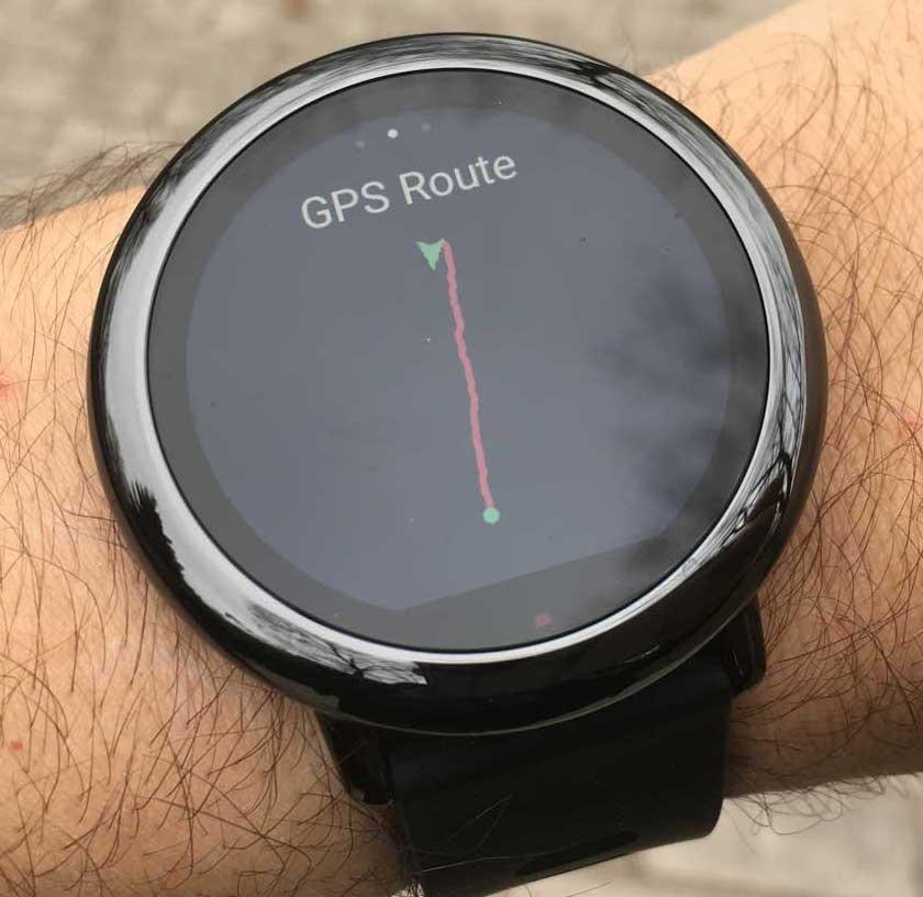 Xiaomi Amazfit - gps trace route