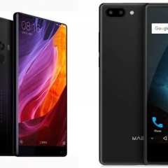 Xiaomi Mi Mix 2 VS Maze Alpha