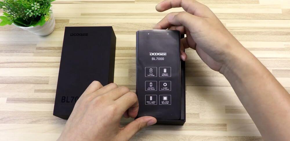 doogee-bl7000-test ecran protégé