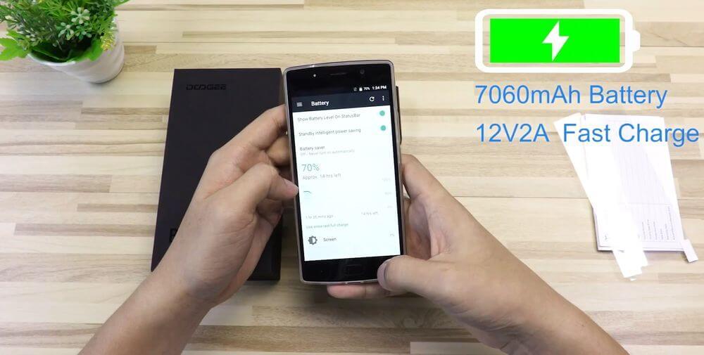 doogee-bl7000-test systeme exploitation batterie