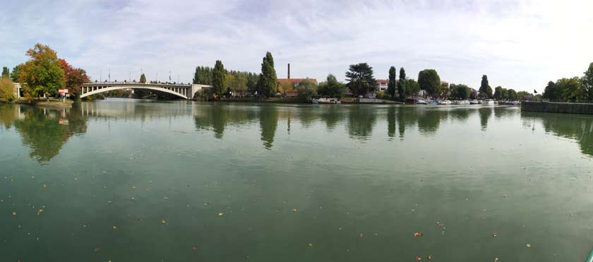 photo panorama paysage riviere prise avec le xiaomi mi mix 2