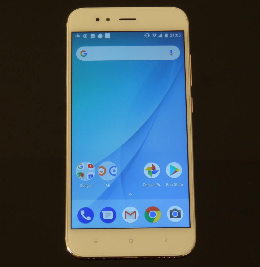 Test Xiaomi Mi A1 - accueil android one