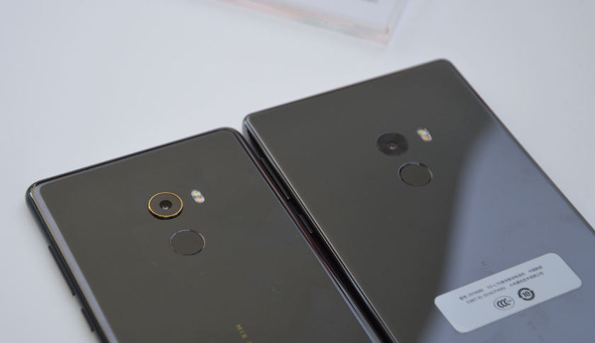xiaomi mi mix VS xiaomi mi mix 2 capteur photo et emprunte digitale