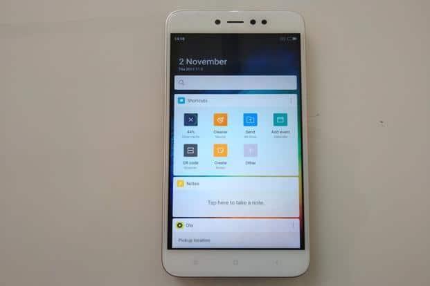 Xiaomi redmi Y1 écran et système d exploitation
