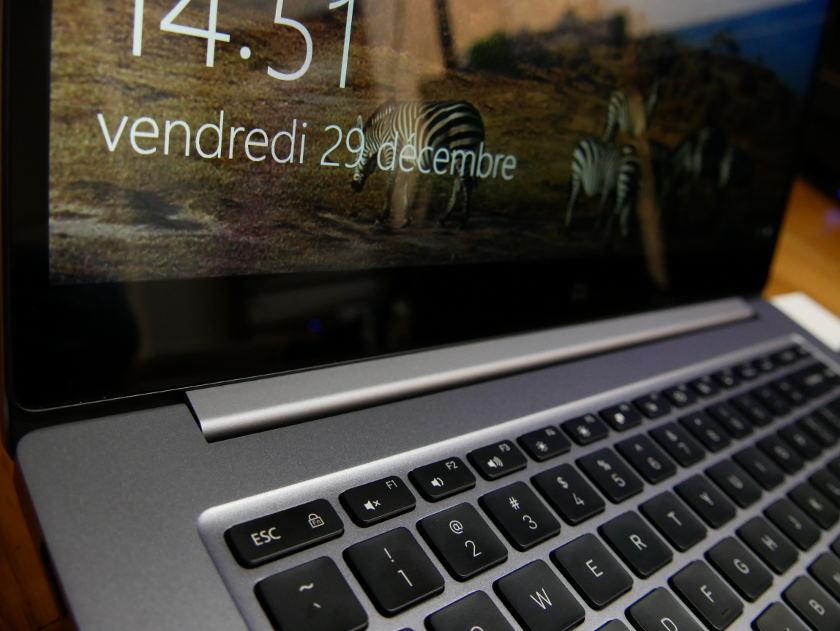 Test Xiaomi Mi Notebook Pro charniere