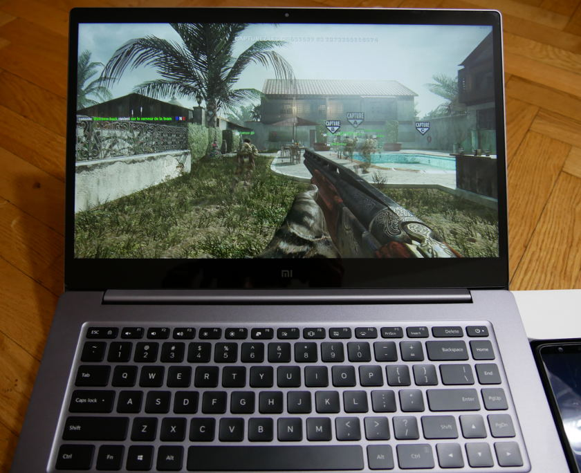 Test Xiaomi Mi Notebook Pro jeux video call of duty