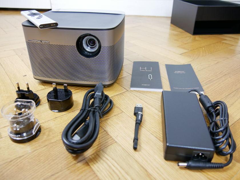 Test Projecteur Xiaomi Xgimi H1 package et accessoires