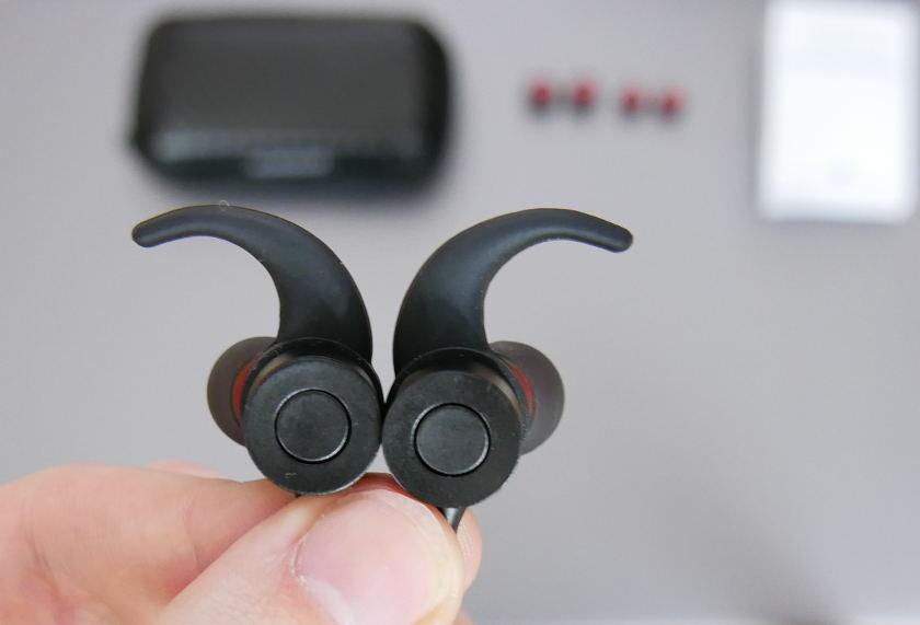 Test casque blutooth Dodocool DA110 arrière écouteurs