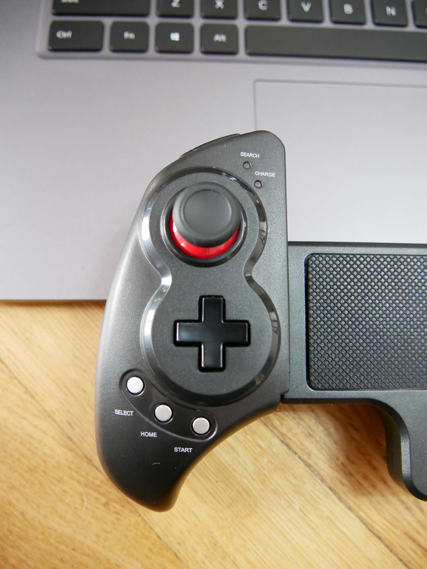 test iPEGA 9023 manette bluetooth joystick croix directionnelle star select