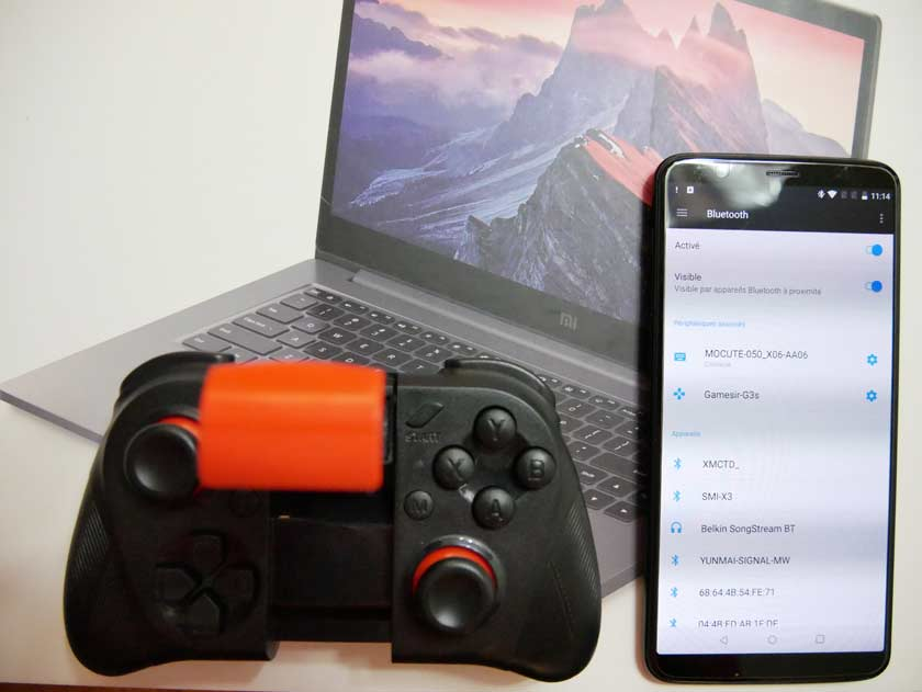 test manette bluetooth mocute 050 connection android