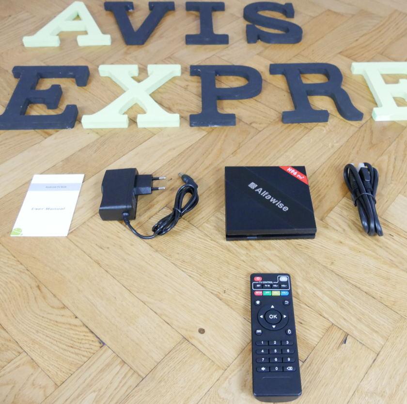 Alfawise H96 Pro+ package et accessoires