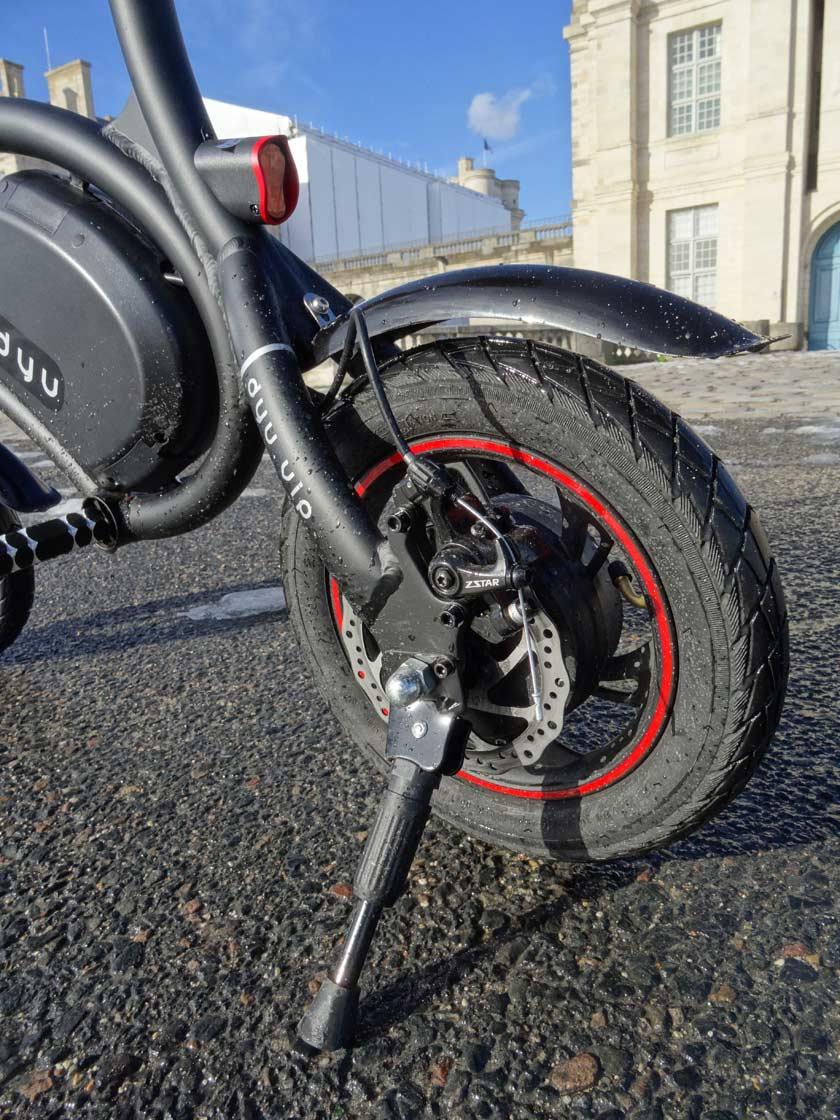 F-wheel DYU D1 test velo electrique béquille