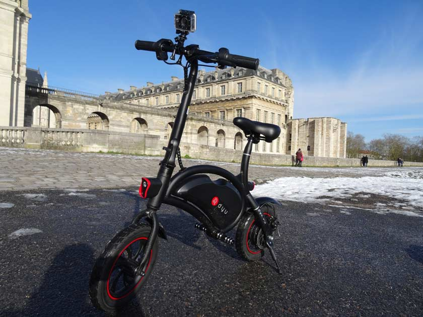 F-wheel DYU D1 test velo electrique devant chateau vincennes
