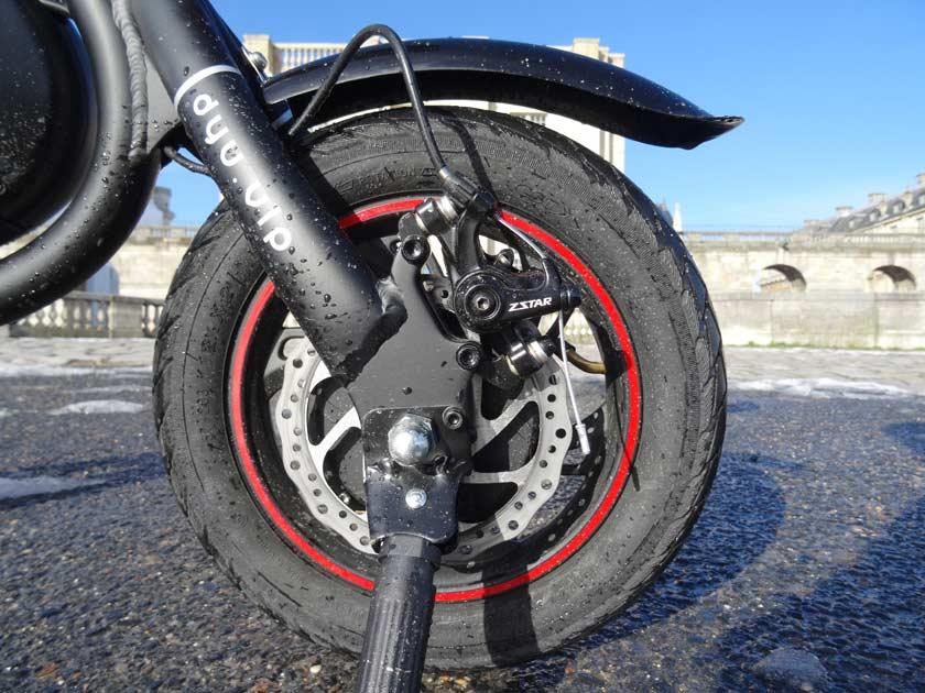 F-wheel DYU D1 test velo electrique roue arriere avec moteur