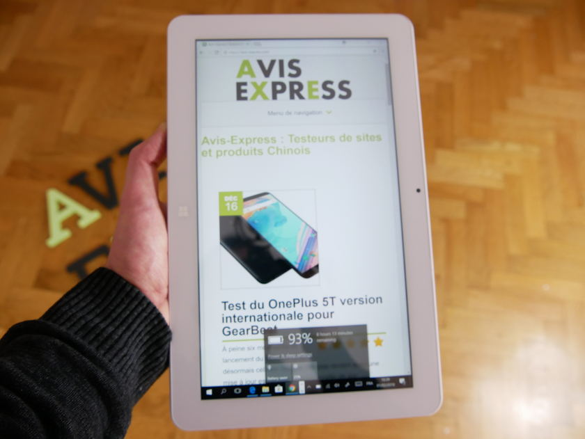 Test Tablette Cube Mix Plus affichage avis express