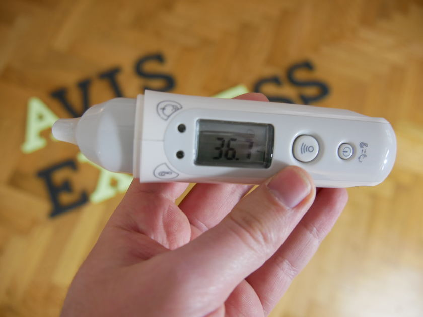 Test thermomètre KooGeek prise temperature bebe