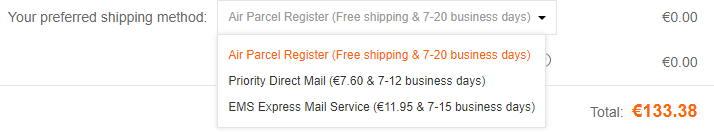 banggood livraison methodes gratuites et payantes