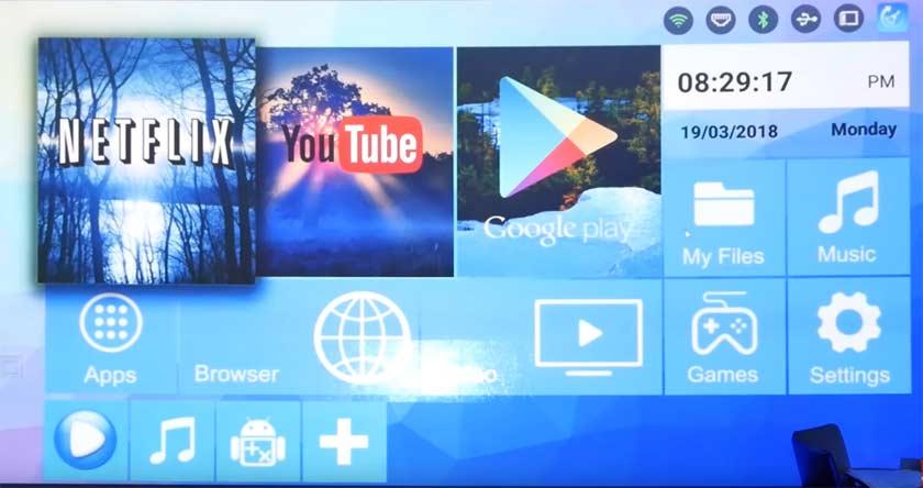 alfawise-H96-pro-plus-écran-accueil-android-tv