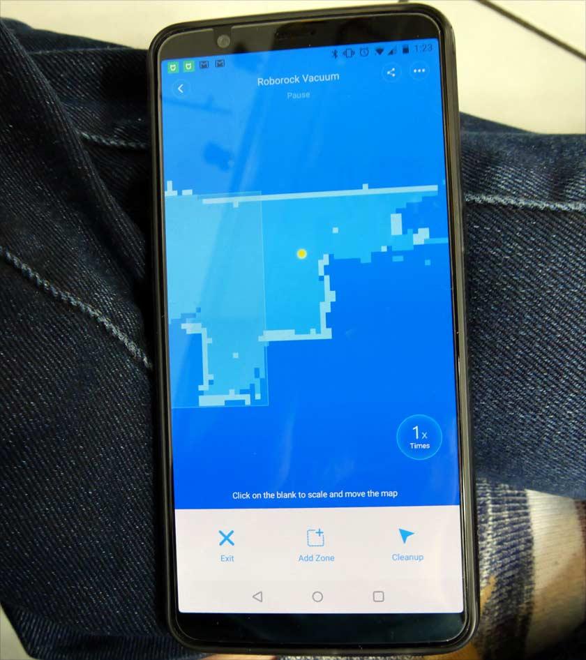 Xiaomi Roborock s50 plusieurs cycle de lavage ou d'aspiration