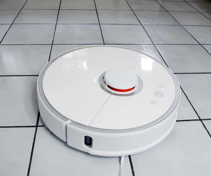 Xiaomi Roborock s50 test lavage de sol cuisine