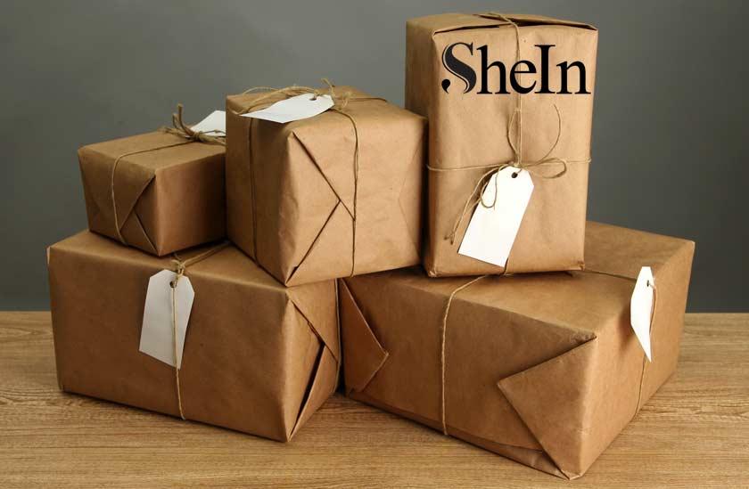 plusieurs colis SheIn