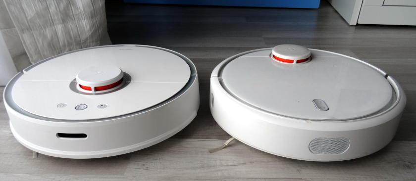 roborock s50 vs xiaomi mi robot bumper télémètre détecteur