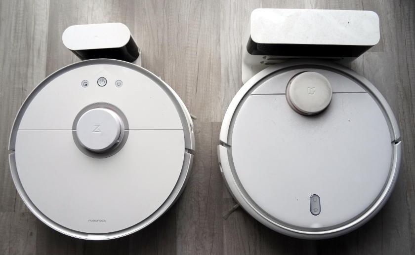 roborock s50 vs xiaomi mi robot chargement autonomie batterie