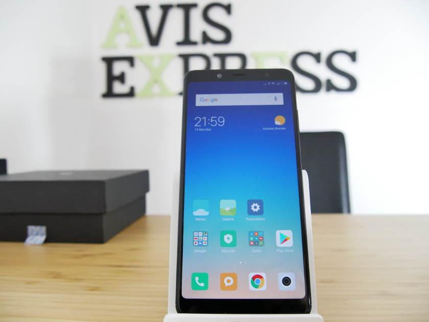 Xiaomi Redmi Note 5 écran accueil android oreo 8 MIUI 9.5