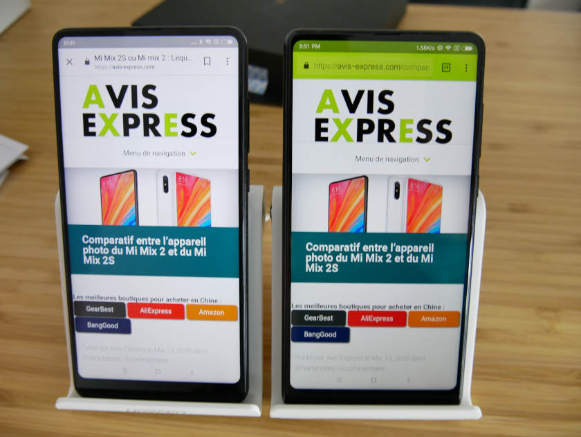 xiaomi mi mix 2s vs mi mix 2 blog avis express