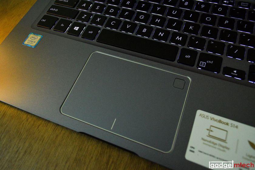 ASUS vivobook s14 trackpad et lecteur empreinte digitale