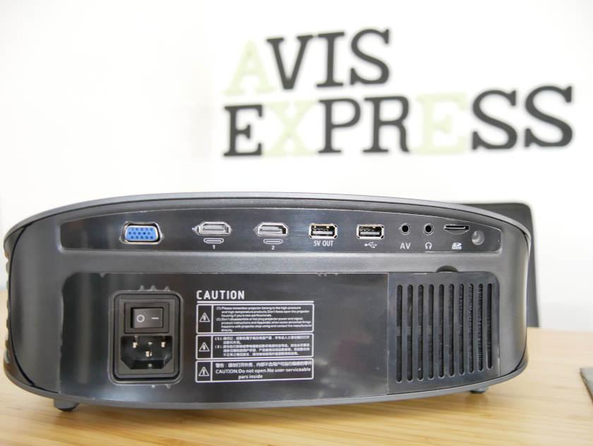 Test Artlii yg600 ports arrière projecteur