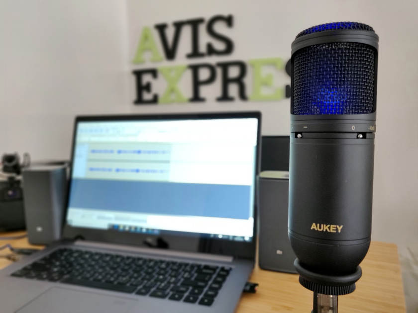 Test microphone Aukey MI-U2 lumière