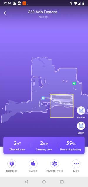 Application 360 S6 nettoyage périmètre