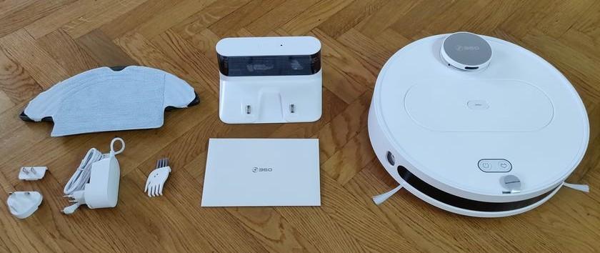 Test 360 S6 package accessoires