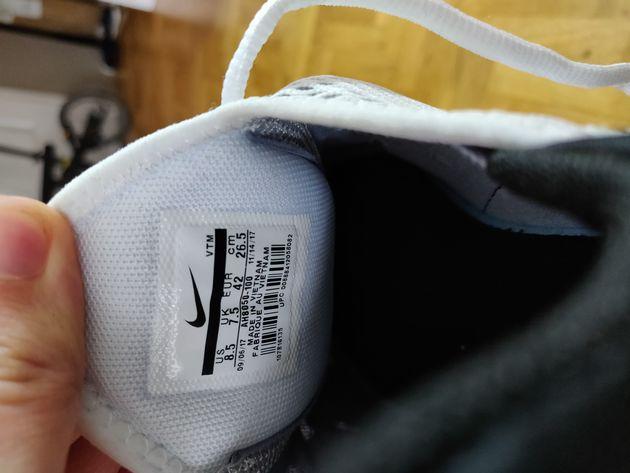 Test Nike Air Max 270 étiquette