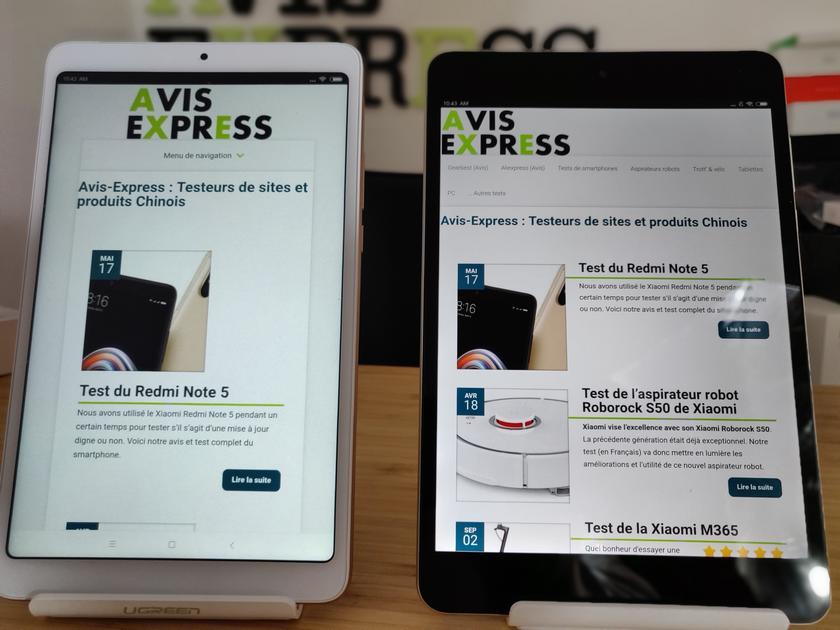 Xiaomi Mi pad 3 vs mi pad 4 écran