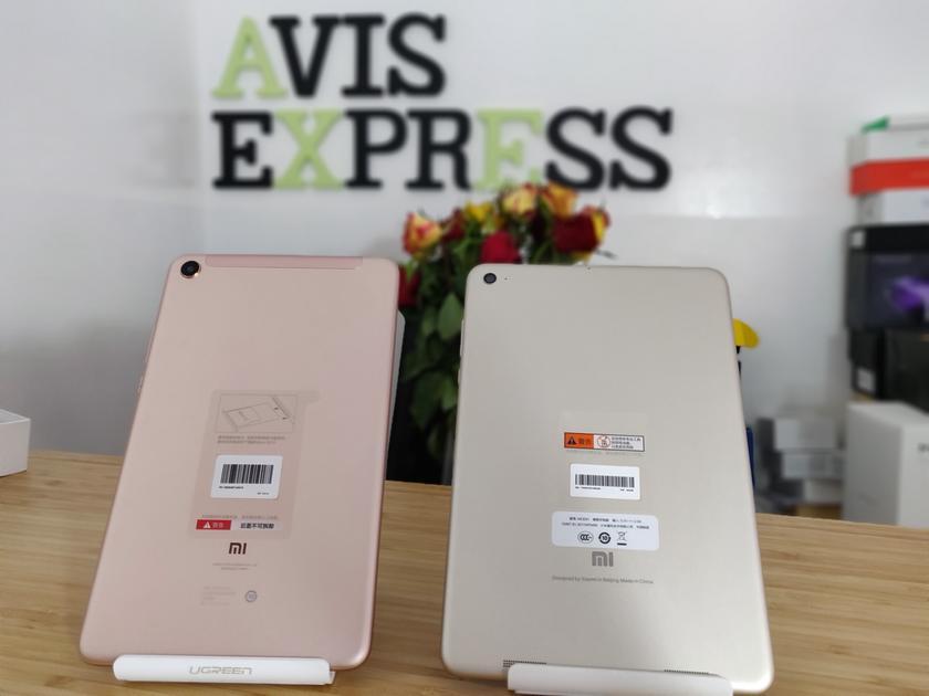 Xiaomi Mi pad 3 vs mi pad 4 arrière