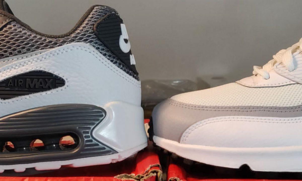 Comparaison entre les Nike Air Max 90 AliExpress et les authentiques